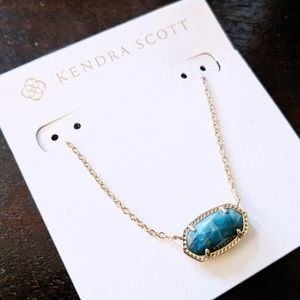 🆕NWT Kendra Scott Elisa Aqua Apatite Necklace